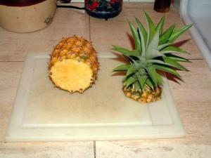 Шаг 2-подготовка верхушки. Метод обрезания верхушки ананаса