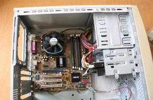 Переделка корпуса компьютера. Компьютер в сборе
